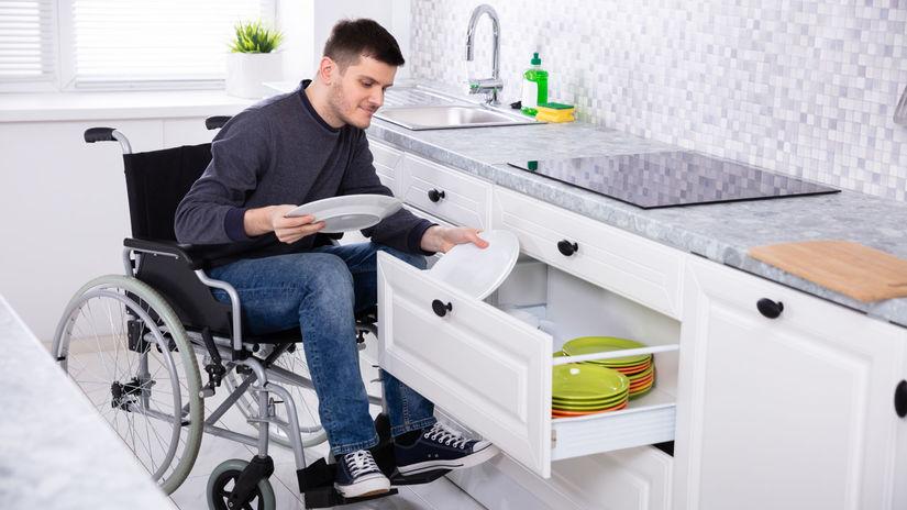 ŤZP, invalidný vozík, kuchyňa