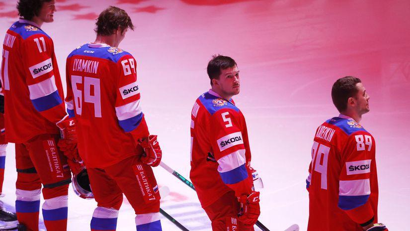 Rusko, hymna, hokejisti