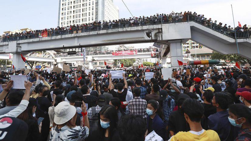 rangún, protest