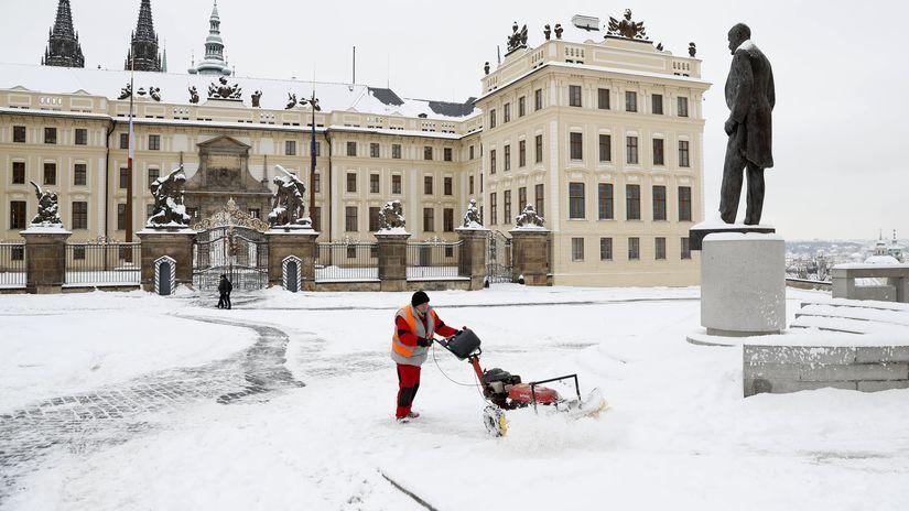 sneh, praha