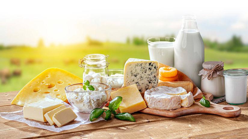 mlieko, syry, mliečne výrobky, vitamín D, vápnik