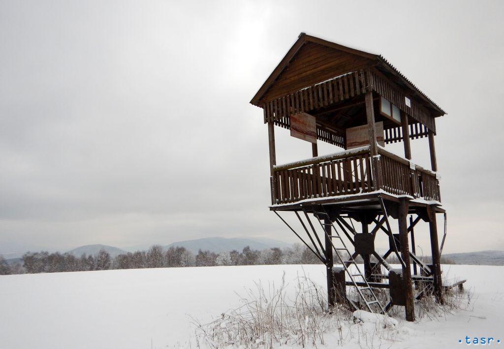Ulič Poloniny turistika, zima, sneh