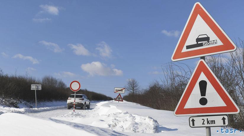 počasie doprava cesty sneh sneženie kalamita...