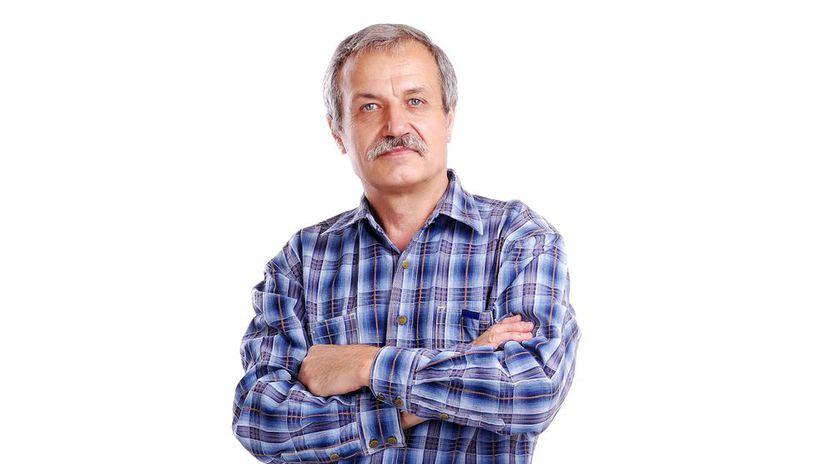 muž, košeľa, založené ruky
