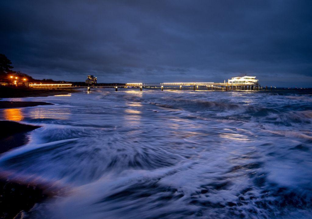 Nemecko, vlny, Baltské more,