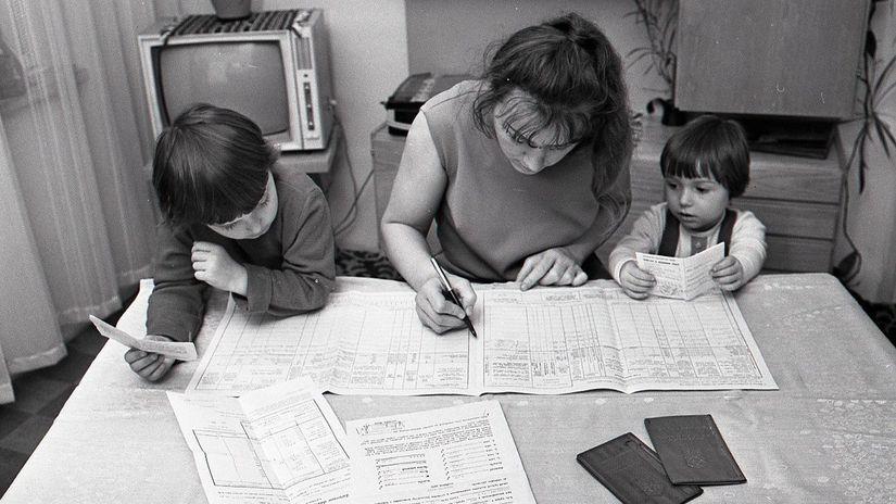 sčítanie, dotazník, písanie, ČSSR, Československo