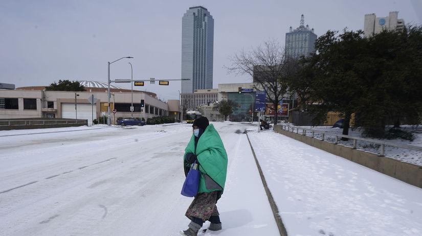 USA Texas počasie sneh búrka sneženie
