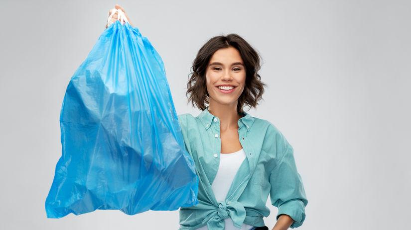 žena, upratovanie, odpadky, odpad, triedenie