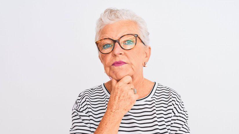 dôchodkyňa, rozmýšľanie, penzistka