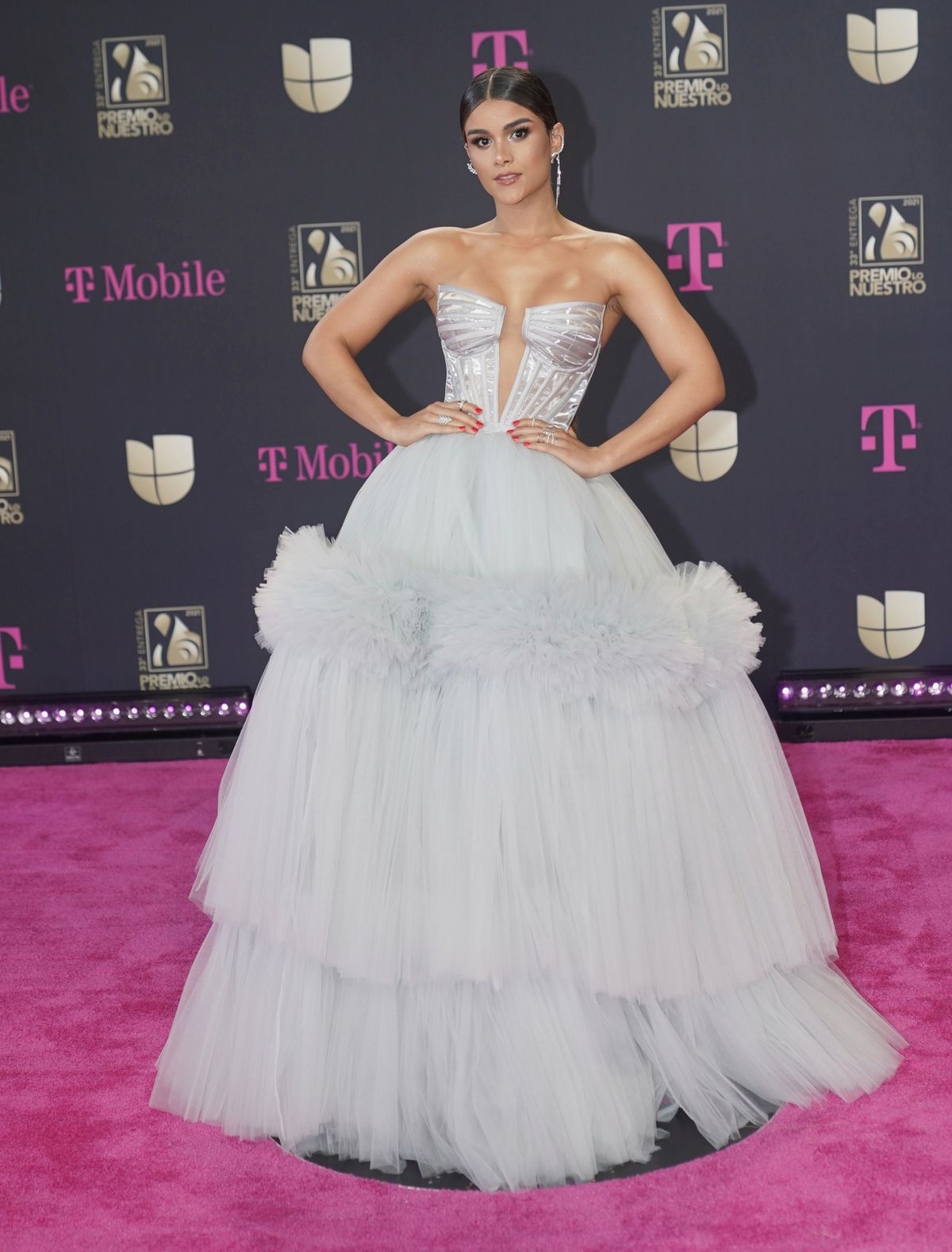 Speváčka Clarissa Molina na vyhlásení cien...