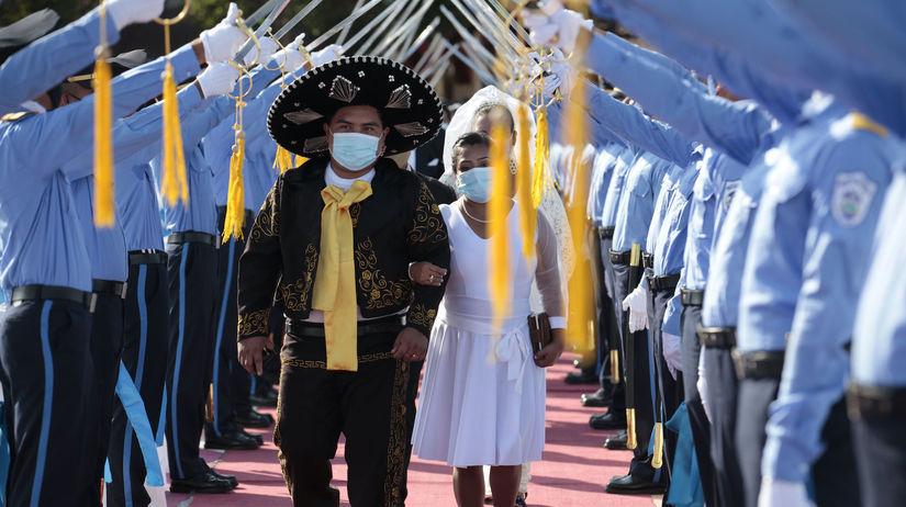 Nikaragua, koronavírus, svadba