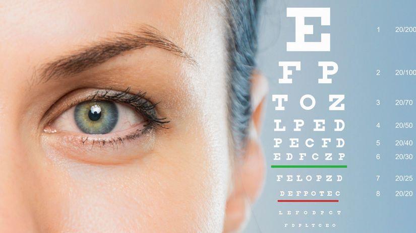 oko, Snellenova tabuľka, zrak