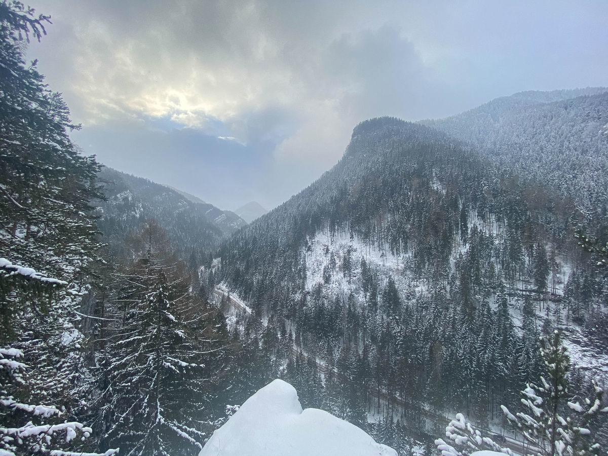 Pohľad na Demänovskú dolinu.