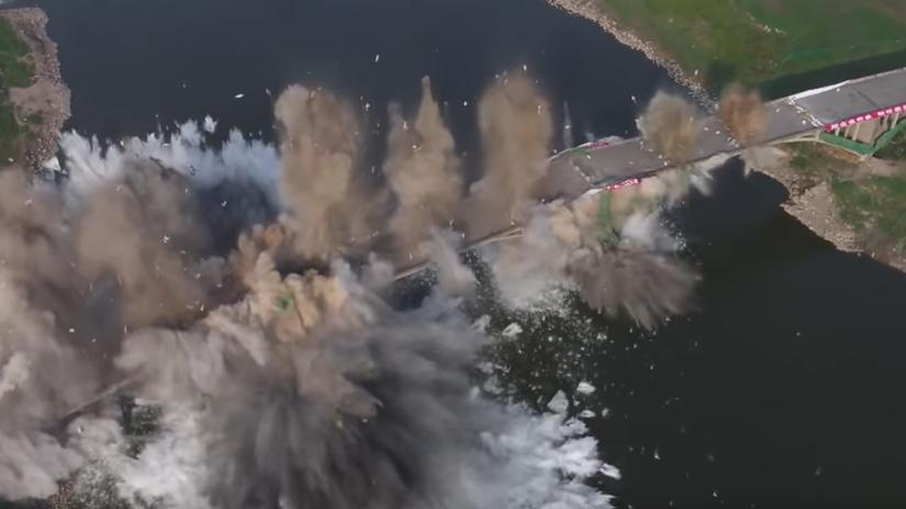 most explózia čína