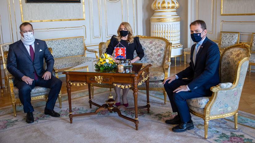 prezidentský palác stretnutie Kollár Čaputová...
