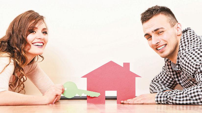 dom, bývanie, manželia, úsmev