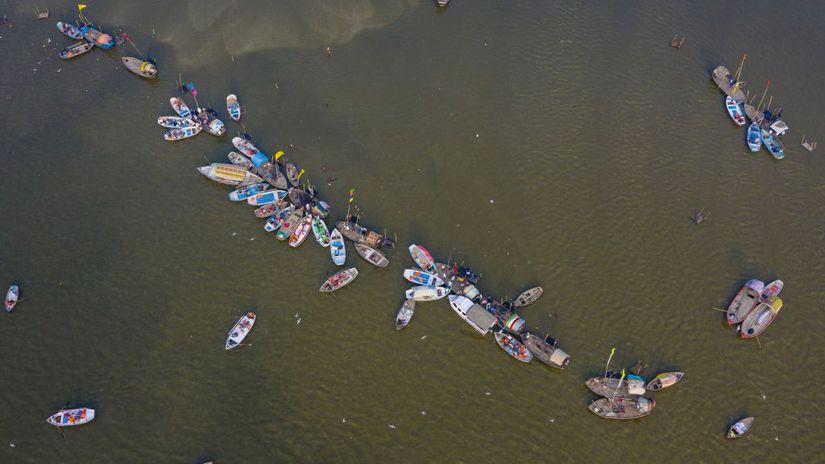 Foto týždňa (8): Turisti, loďky, kone, prasiatka