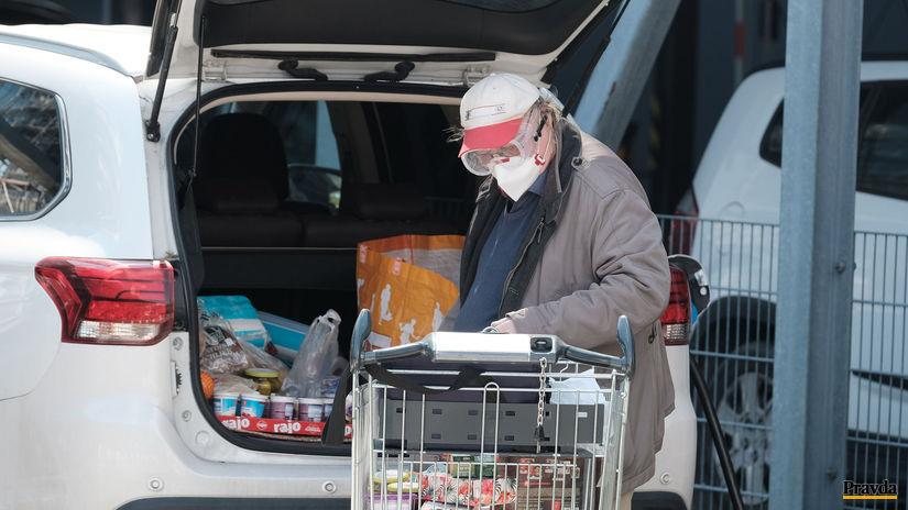 nakupovanie senior koronavírus potraviny