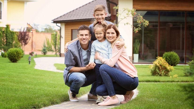 rodina, dom, bývanie, záhrada, radosť