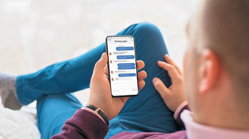 mobil, sociálna sieť, chat, internet, facebook