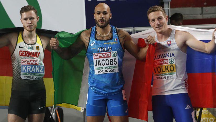 Poľsko Toruň Atletika HME finále muži 60m Volko
