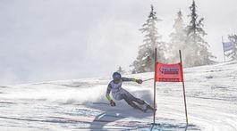 Shiffrin obrovský slalom ženy 1. kolo ZAX