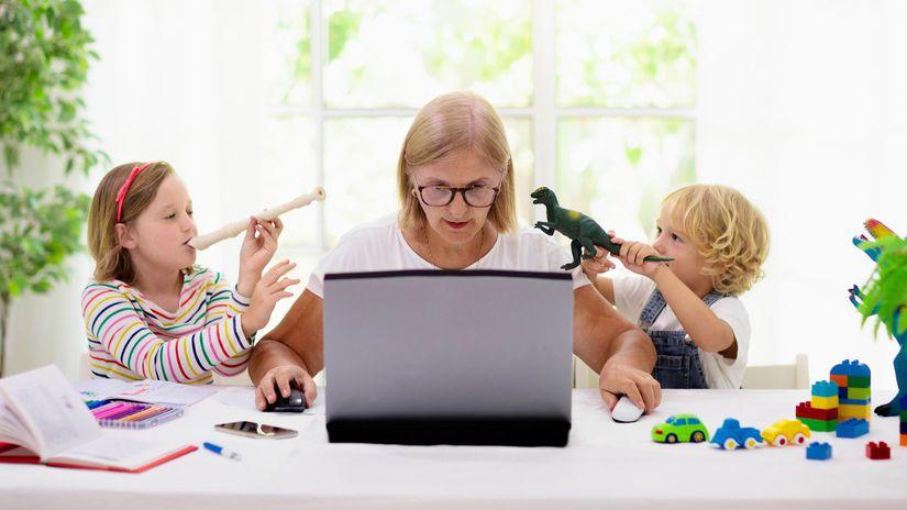 žena, práca, deti, disciplína, výchova, home...