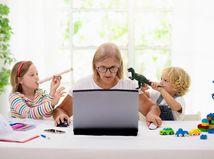 žena, práca, deti, disciplína, výchova, home office