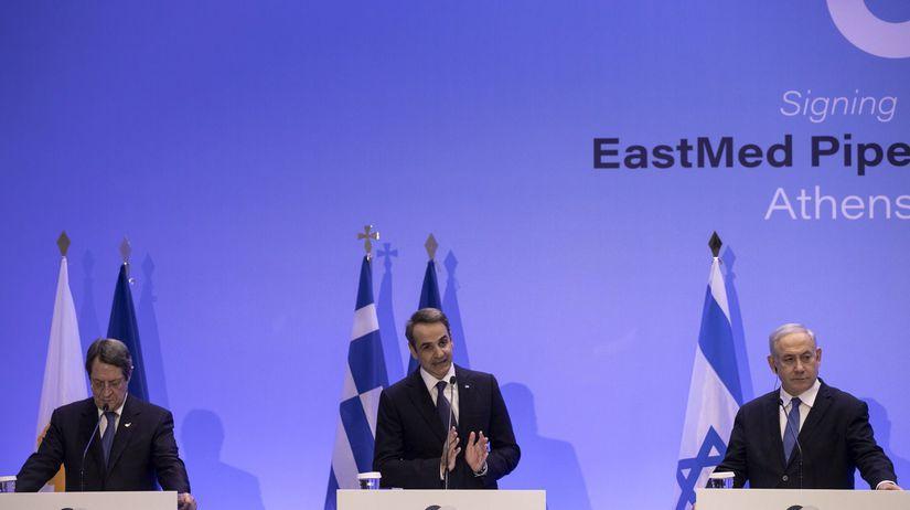 Grécko Izrael Cyprus premiér plynovod dohoda