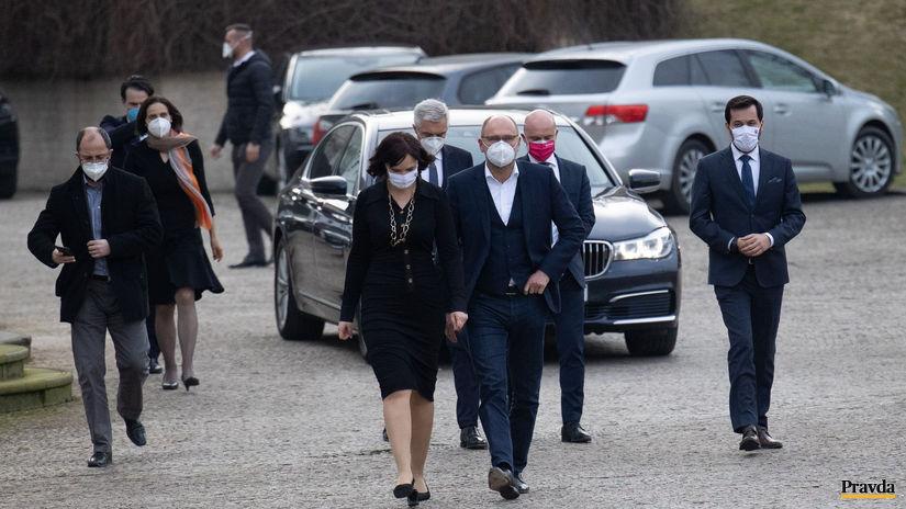 Richard Sulík, Veronika Remišová, po návšteve u...