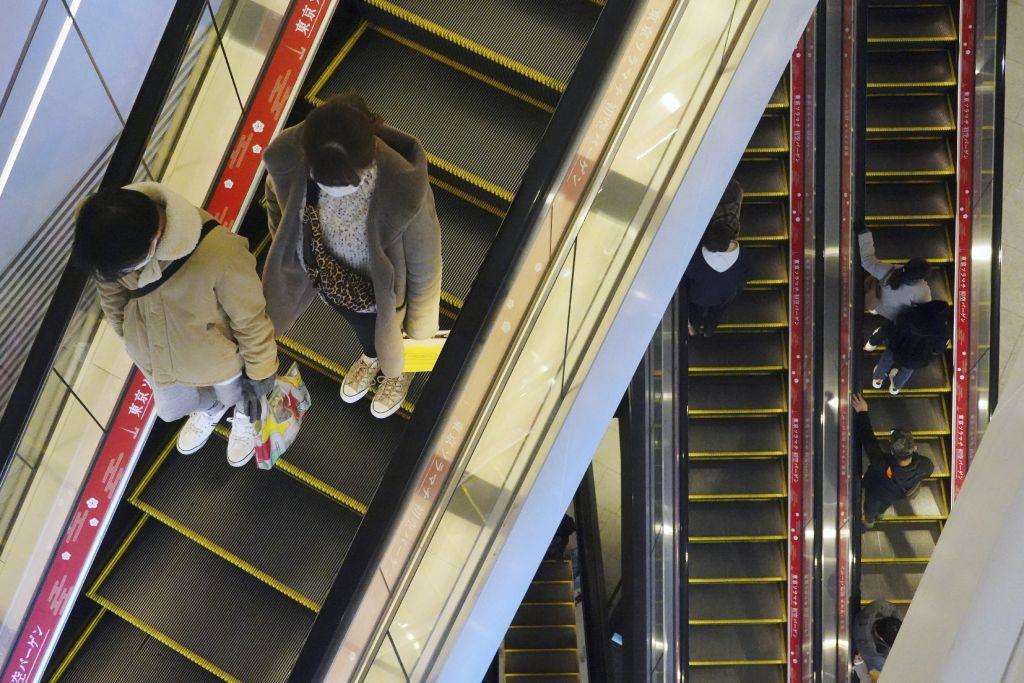 Japonsko, eskalátor, nákupné centrum