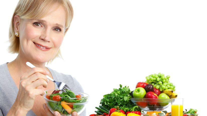 žena, ovocie, zelenina, zdravá strava