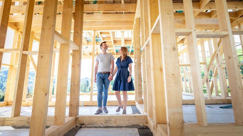 dom, stavba, snívanie, plánovanie, manželia,...