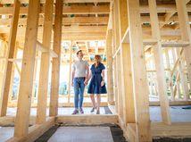 dom, stavba, snívanie, plánovanie, manželia, radosť
