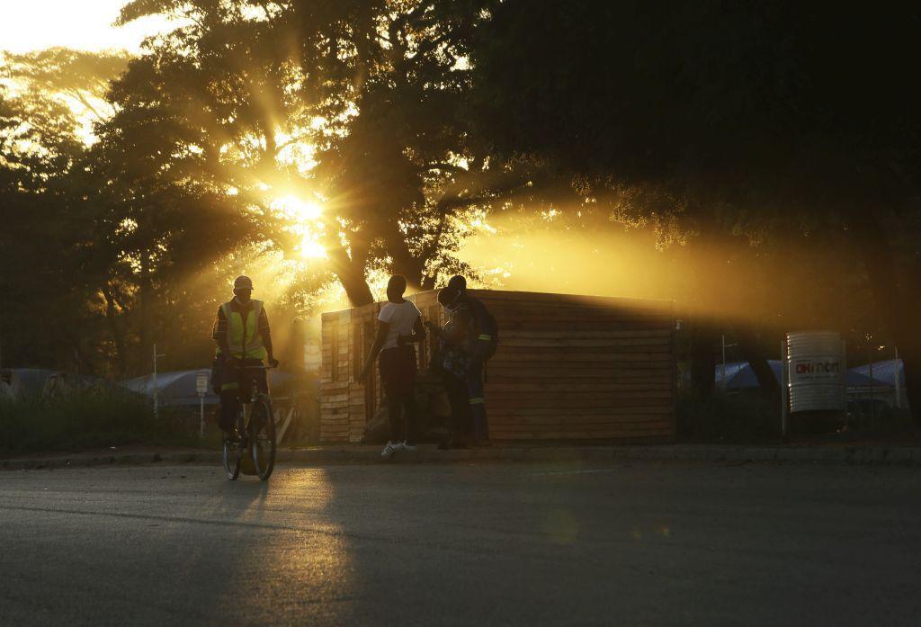 Zimbabwe, slnko, bicykel