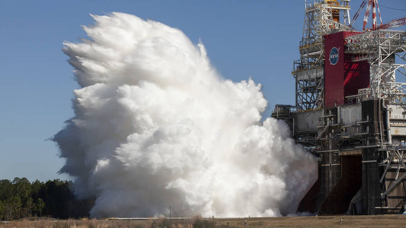Second Hot Fire Test of SLS Rocket Core Stage