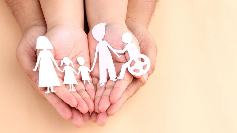 rodina, papier, postavičky, ťzp, zťp, invalidný...