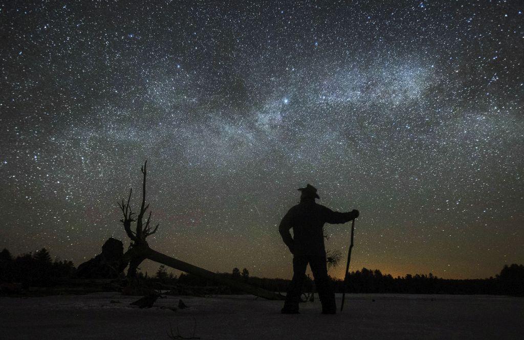 Kanada, hviezdy, noc, nebo, Mliečna dráha