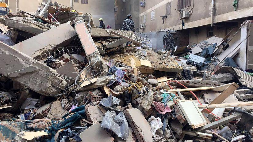 káhira, zrútenia budovy