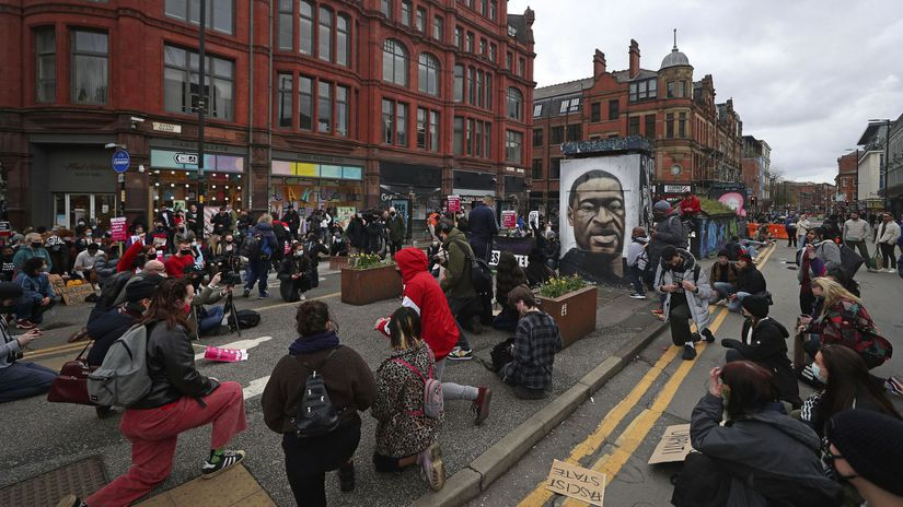 manchester, protest