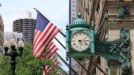 Známe hodiny na najstaršom obchodnom dome v Amerike, Marshall Field´s.