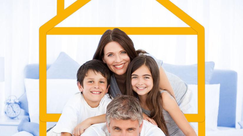 dom, rodina, úsmev