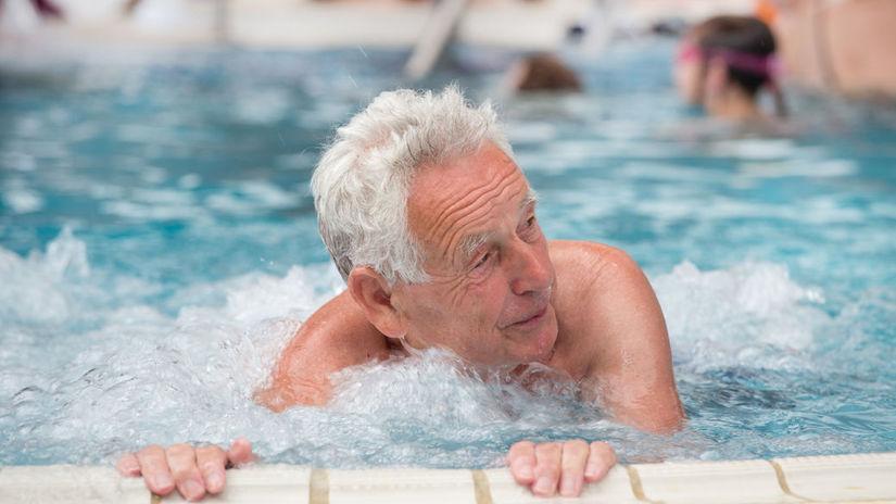 muž, kúpele, bazén, relax
