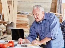 muž, senior, práca, písanie, pracujúci penzisti