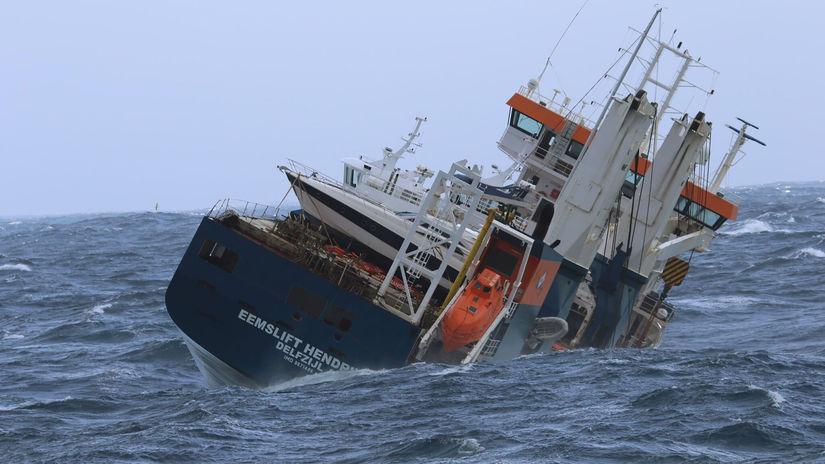 Nórsko Holandsko loď nákladná odtiahnutie odklad