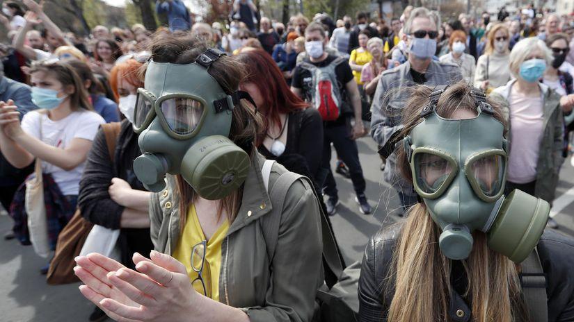 Srbsko Belehrad Protest Ekológia