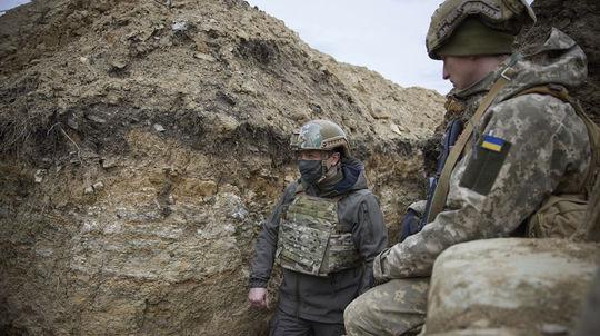 Ukrajina Rusko Zelenskyj návšteva Donbas konflikt
