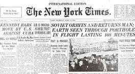 New York Times, titulná strana, Jurij Gagarin