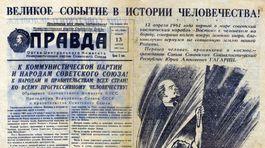 Pravda, Moskva, titulná strana, Jurij Gagarin