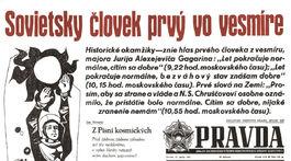 titulná strana, denník Pravda, Jurij Gagarin